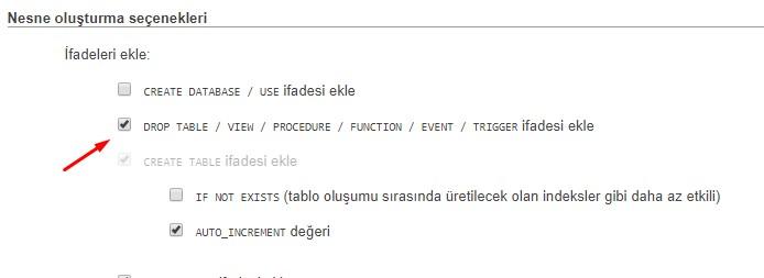 MySQL Yordamlar (procedure) Yedek Alma – Geri Yükleme – Backup