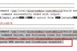 DirectAdmin php1_mode cannot be set to lsphp when using apache WEB server and CloudLinux disabled.