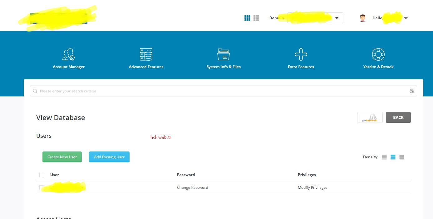 DirectAdmin phpmyadmin Auto Login – Otomatik Giriş Yapma
