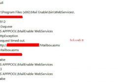 Mail Enable Web ServicesRequest Time Out Hatası ve Çözümü
